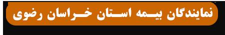 نمایندگان بیمه استان خراسان رضوی