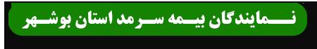 نمایندگان بیمه سرمد بوشهر
