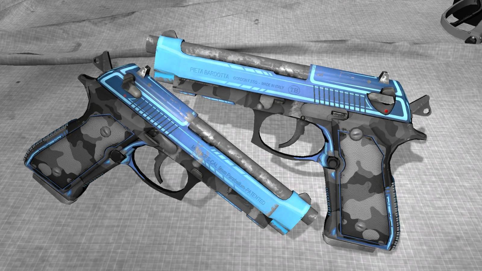دانلود اسکین دو کلت CS:GO Dual Berettas برای کانتر استریک 1.6