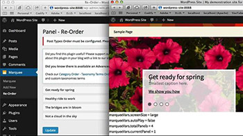 Lynda - Creating a Marquee in WordPress with jQuery
