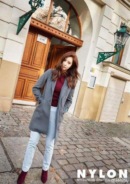 عکسای خوشگل سوهیون برای لباس های زمستونی Nylon