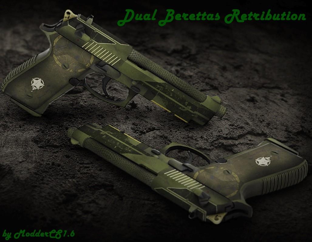 دانلود اسکین دو کلته Dual Berettas برای کانتر استریک 1.6