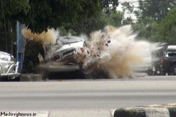 لحظه انفجار خودروی انتحاری داعش + فیلم