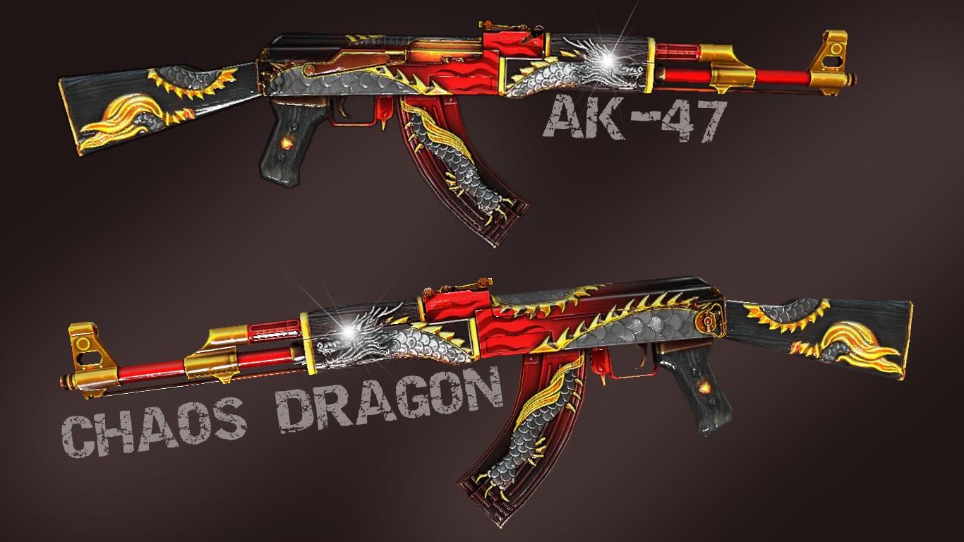 دانلود اسکین کلاش AK-47 Royal Dragon برای کانتر سورس