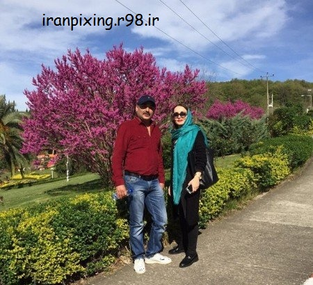 عکس جدید حدیث فولادوند با همسرش در مشهد