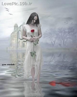 عكس دختر عاشق تنها