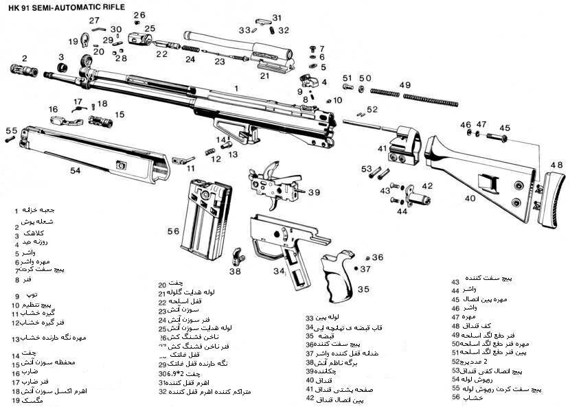 اجزای تشکیل دهنده اسلحه ژ-3