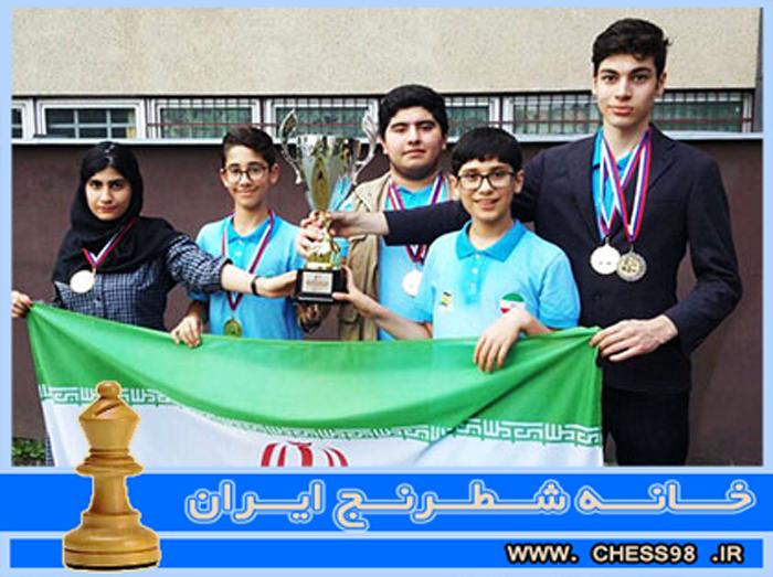 تیم ملی شطرنج ایران قهرمان المپیاد جهانی زیر 16 سال شد