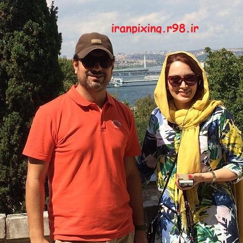 عکس های شخصی جدید از مهدی پاک دل همراه با همسرش بهنوش طبابایی