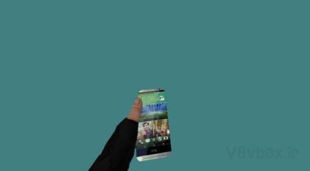 اسکین C4 به شکل گوشی HTC ONE M8 برای کانتر 1.6