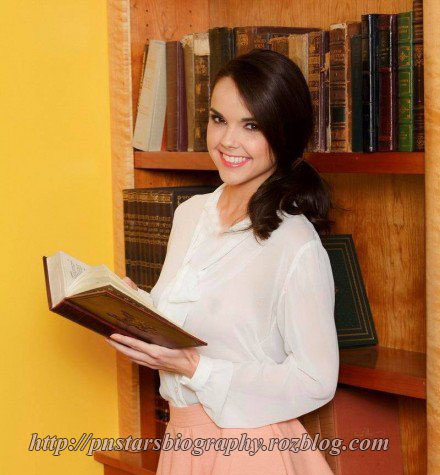 Dillion Harper in the library