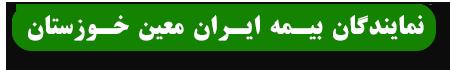 نمایندگان بیمه ایران معین استان خوزستان
