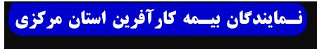 نمایندگان بیمه کار آفرین استان مرکزی