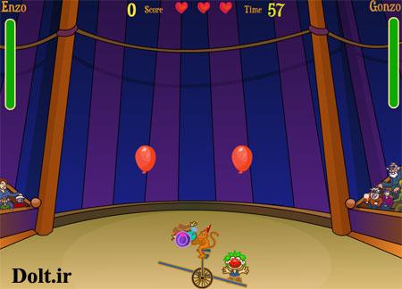 بازی آنلاین امتیازی سیرک