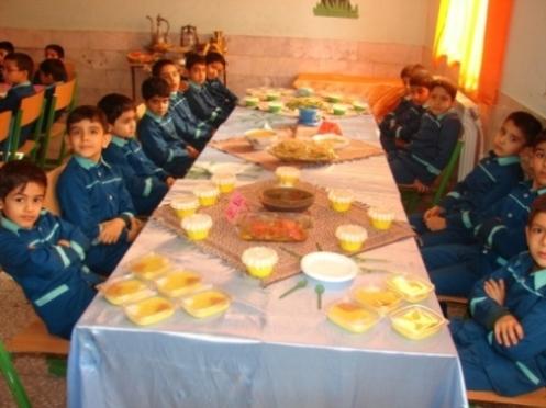 دومين جشنواره غذای سالم در دبستان شهید آیت دوره اول بیرجند