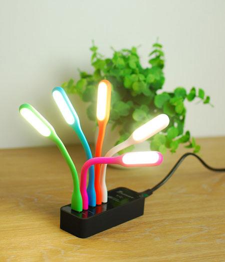 خرید چراغ مطالعه usb تاشو با گارانتی
