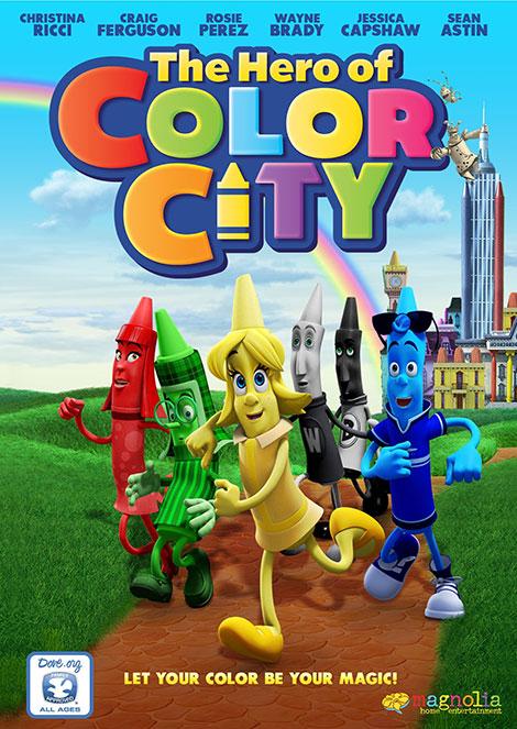 دانلود دوبله فارسی انیمیشن قهرمان رنگستان The Hero of Color City 2014