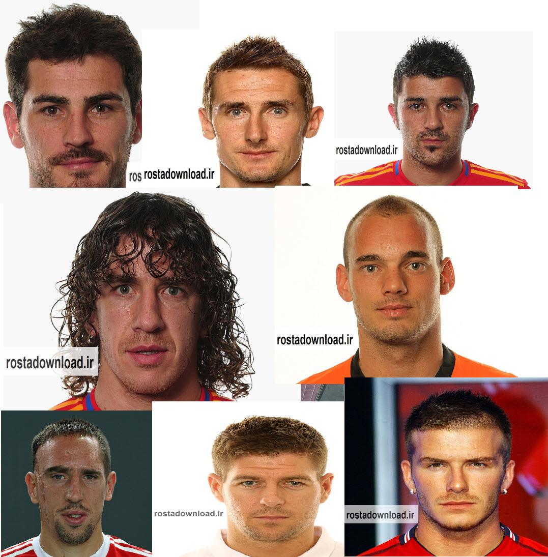 عکس از چهره بازیکنان  با کیفیت بالا