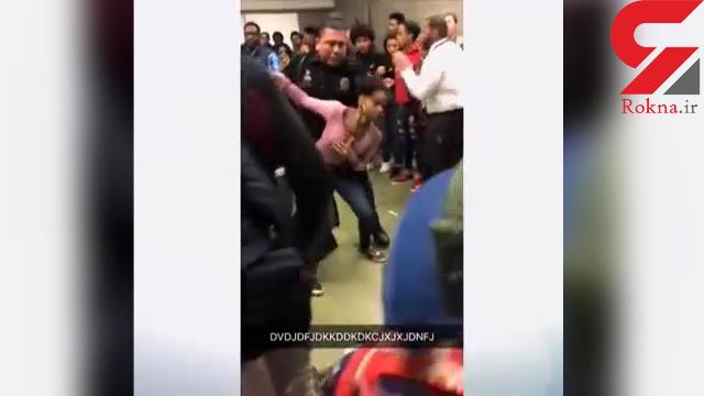 رفتار زشت پلیس آمریکا با یک دختر نوجوان+فیلم و عکس