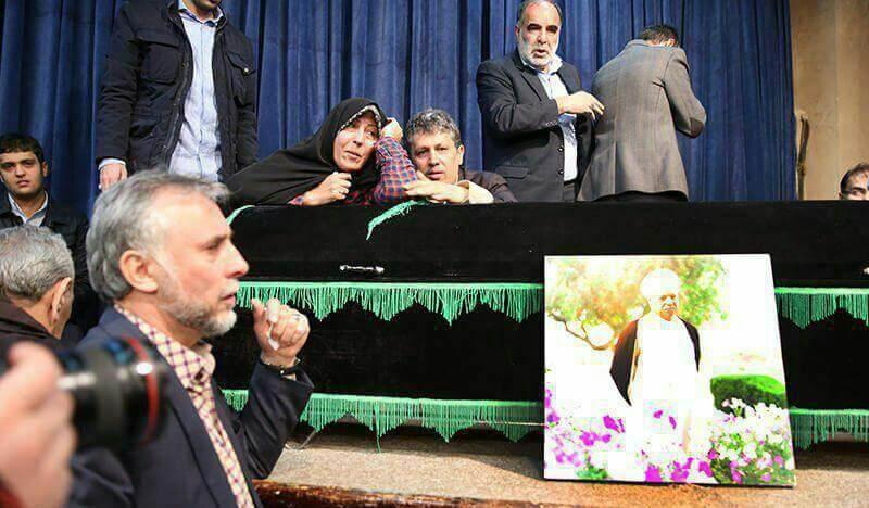 عکس مسئولین در جماران در پی فوت هاشمی رفسنجانی