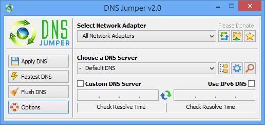 تغییر دی ان اس ها با DNS Jumper 2.1