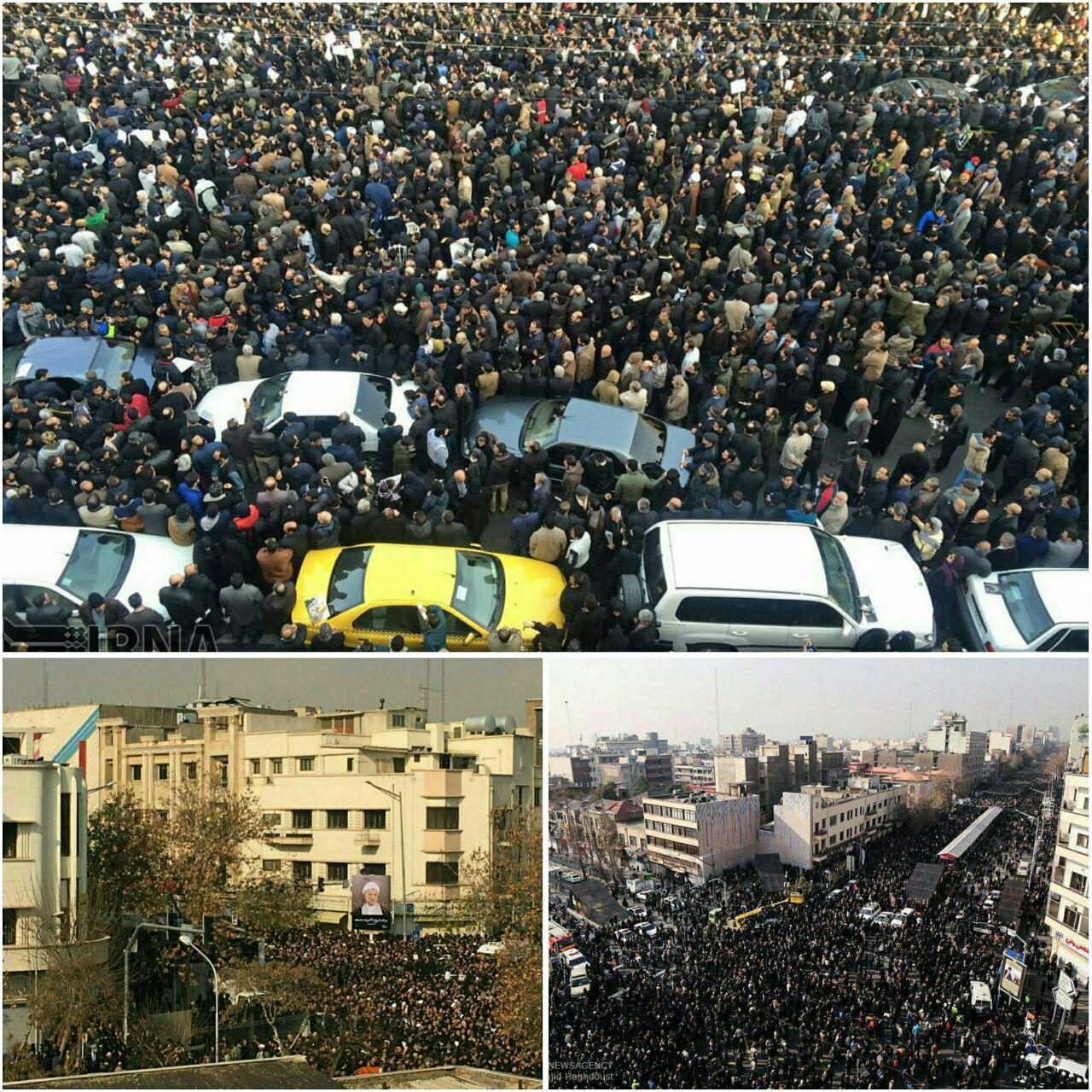 تصاویر هوایی از حضور مردم در مراسم هاشمی رفسنجانی + عکس