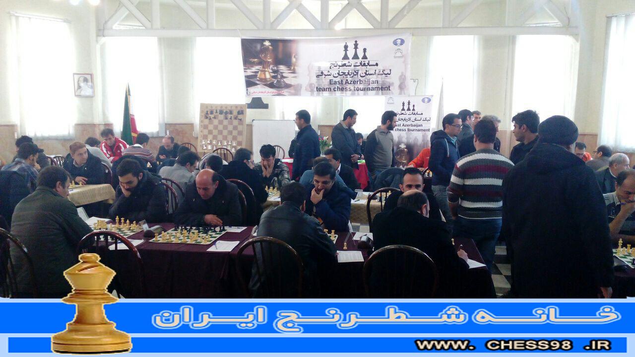 پایان مسابقات لیگ برتر شطرنچ آذربایجان شرقی