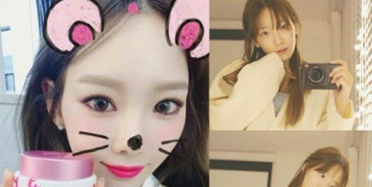 عکسای سلفی Taeyeon در رابطه با کامنت یک آنتی فنه مزخرف