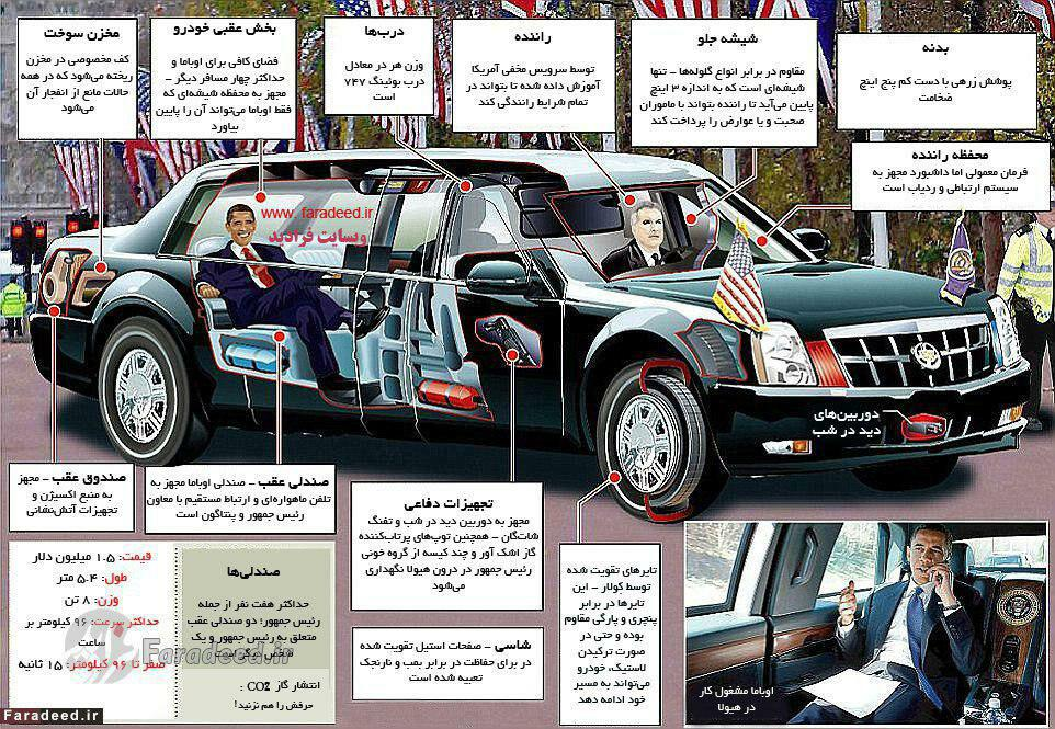 ماشین فوق امنیتی اوباما + شرح جزئیات