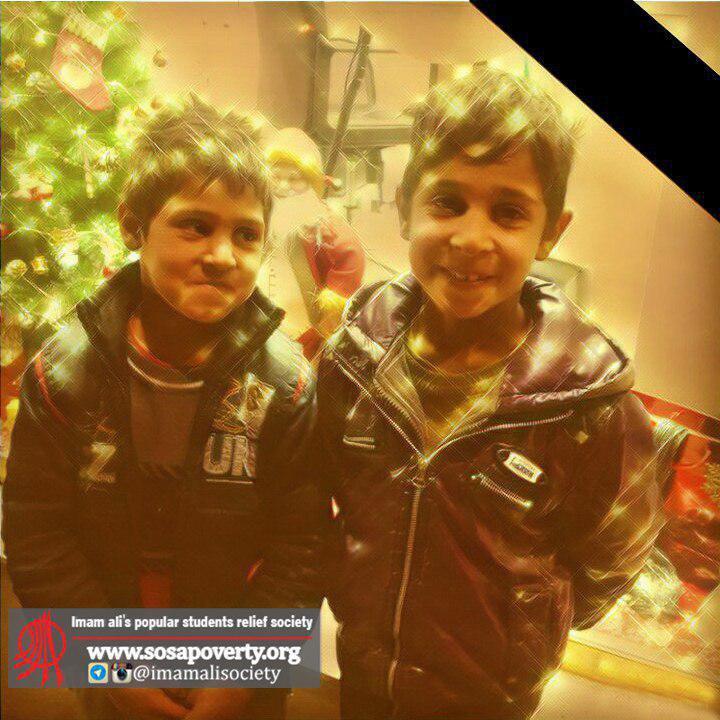 عکس احد و صمد دو کودک کار گرفتار حریق