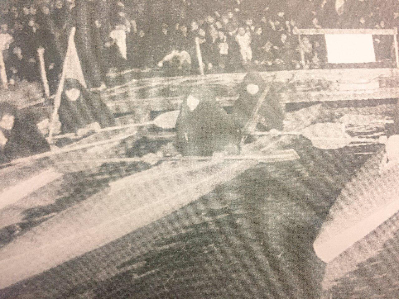 تیم قایقرانی زنان در سال ۱۳۶۱ + عکس