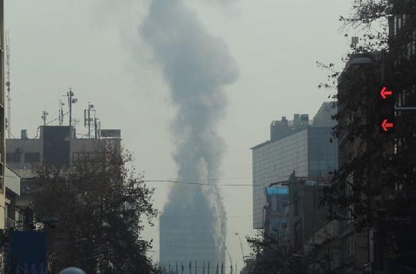 (تصاویر) پلاسکو در آتش سوخت و فرو ریخت