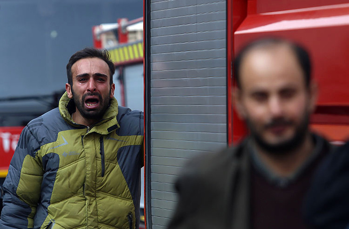 فیلم حادثه آتش سوزی و ریزش ساختمان پلاسکو