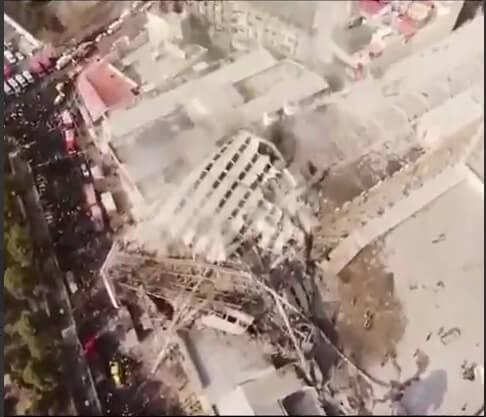 علت آتش سوزی ساختمان پلاسکو + فیلم ریزش