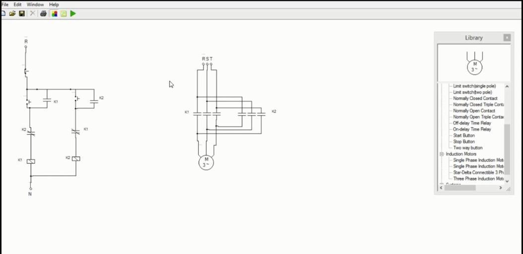 نرم افزار طراحی مدار فرمان برق  و آموزش آن