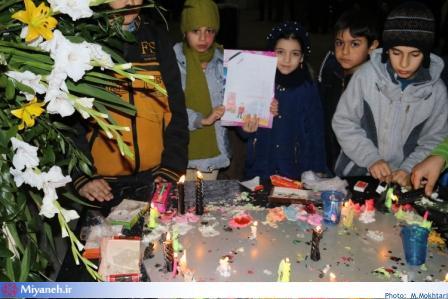 یاد جانباختگان حادثه ساختمان پلاسکو در آتشنشانی میانه گرامی داشته شد