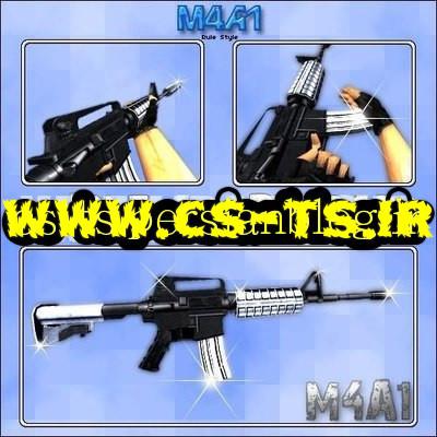 دانلود اسکین زیبای اسلحه ای M4a1 Skin cs1.6 برای کانتر 1.6