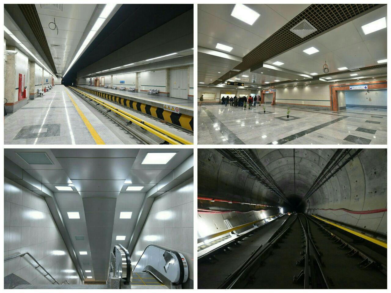 اتمام معماری ایستگاه کشف رود خط 2 مترو مشهد+تصاویر