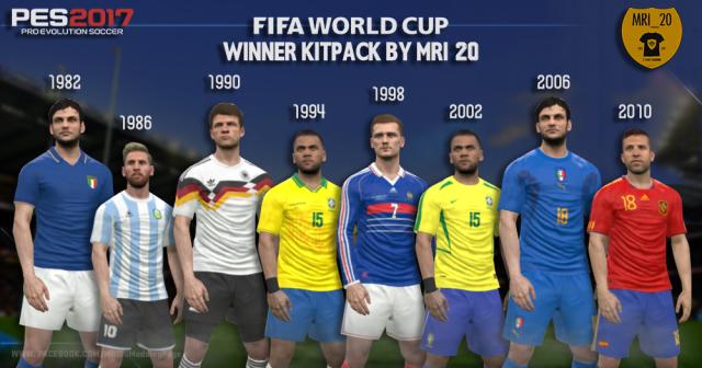 دانلود کیت کلاسیک تیم های ملی در جام های جهانی