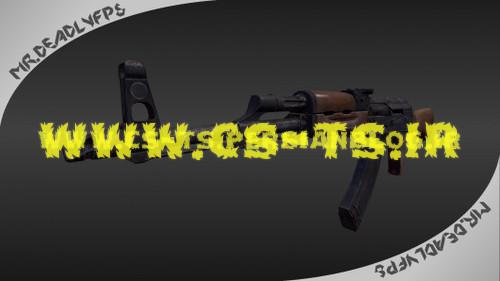 دانلود اسکین اسلحه ای akmbymrdfps_2 برای کانتر سورس