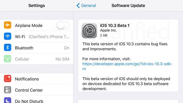 تغییر فایل سیستم آیفون در iOS 10.3