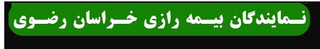 نمایندگان بیمه رازی استان خراسان رضوی