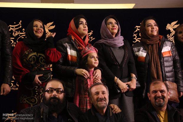 عکسهای بازیگران روز پنجم سی و پنجمین جشنواره فیلم فجر