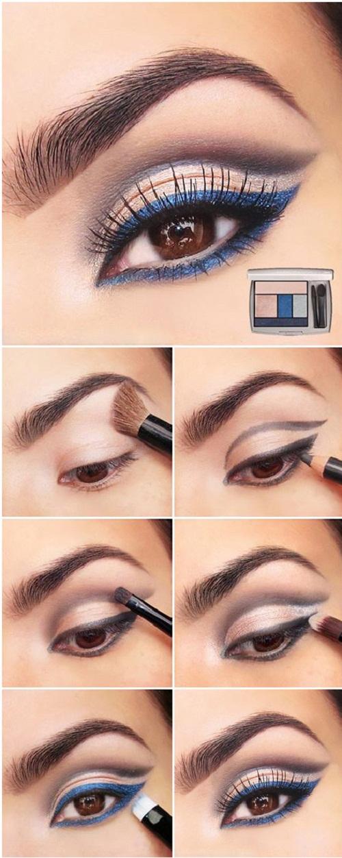 آموزش تصویری آرایش چشم درشت,