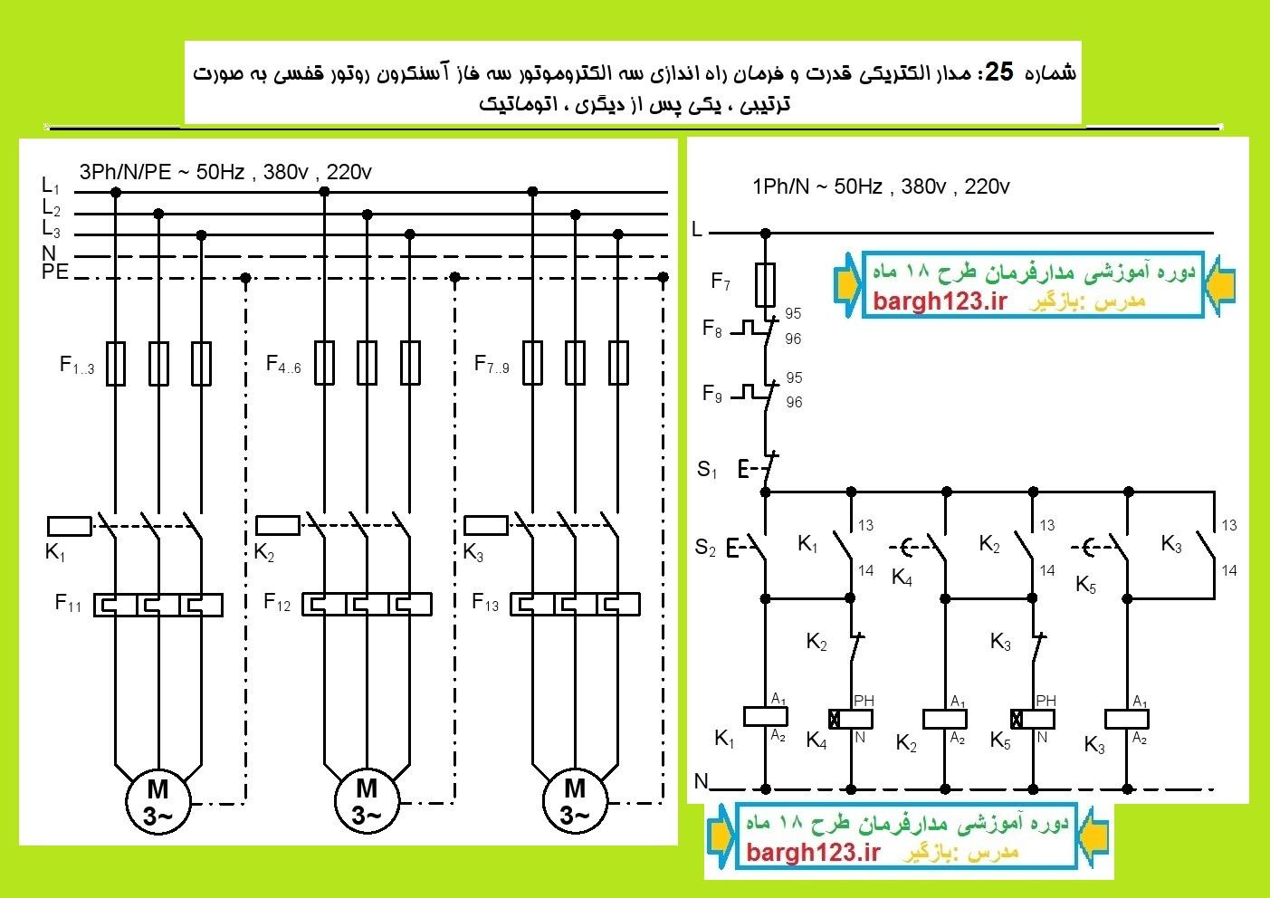 پک آموزش برق صنعتی ومدار فرمان طرح ممتاز 18 ماه
