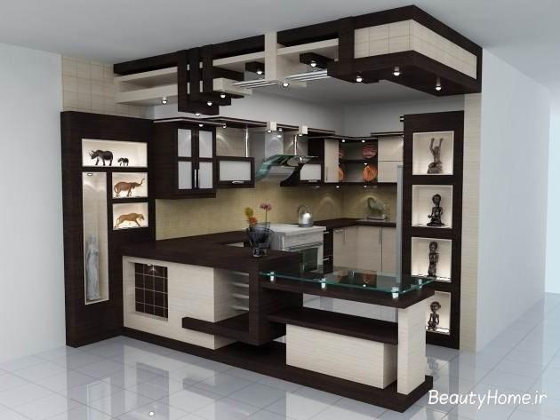 عکس های انواع مدل کابینت گلاس و ام دی اف MDF آشپزخانه ایرانی