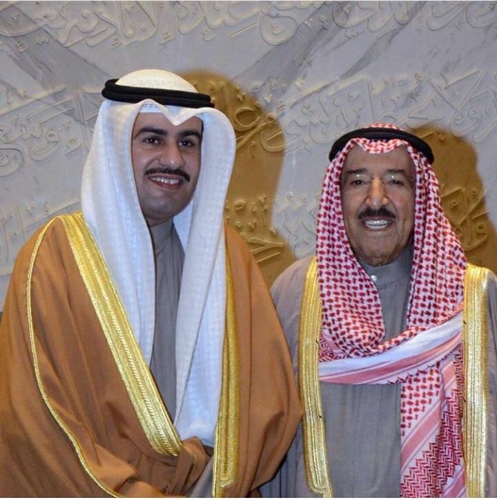 ثامر سعد السویط مع الامیر صباح الأحمد الصباح