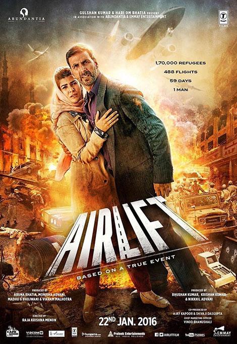 دانلود دوبله فارسی فیلم هندی هوابرد Airlift 2016