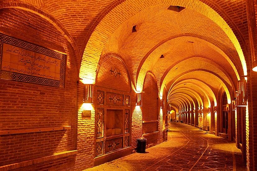 بزرگترین کاروانسرای سرپوشیده ایران سعدالسلطنه قزوین