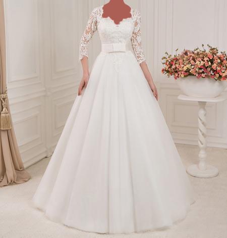 مدل لباس عروس های آستین دار